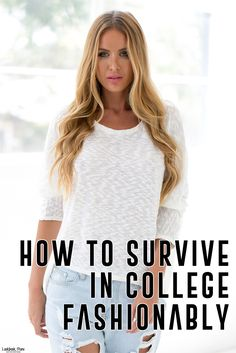 Style Tips // Survive College fashionably with these lovely pieces.