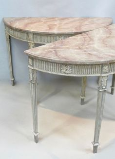 A Pair of Contemporary Painted Console Tables - Stock - Blanchard Collective | Antiques, Marlborough