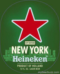 Heineken City Edition - New York, Amsterdam, Berlin, London, Shanghai & Rio De Janeiro