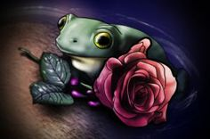 Frog and a Rose by strategossix