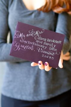 Moira Ink Calligraphy. Love the look! I want to do this for all of my Christmas cards!