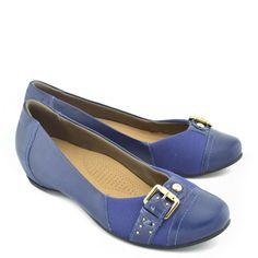 7bf20423ab Sapato Usaflex Couro New Blue Jawa - Azul Escuro