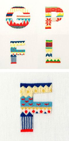 embroided type #typography #design