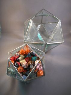 Simply stunning hand crafted d20 glass dice bowl. How incredible is this? Present your dice in STYLE.