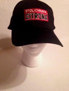 33857b3e6bc Stoli Stolichnaya Citrona Hat Black Red NEW NWOT Adjustable  HitWear   BaseballCap