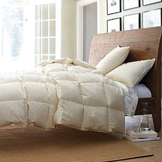organic down comforter $169/twin oatmeal available, white backordered until 8.6