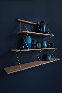 X-shelf is a minimalistic shelf system from Hertel & Klarhöfer with a cool Nordic look. The shelves are made of wood and metal and are available in several sizes. Keep it minimalistic with a simple set-up or mix sizes in all directions. Shelf System, Shelves, Creative Storage Solutions, Floating Shelves, Scandinavian Design, Storage, Wood And Metal, Wall Unit, Shelving