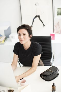 Garance Doré for Zara, slogan T-shirt, leather skirt/Garance Doré/Taea Thale