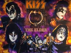 What an amazing drawing by Chris Hoffman of The Elder Era! Kiss Album Covers, Heart Tattoos With Names, Rubber Soul Beatles, Vintage Kiss, Kiss Art, Kiss Pictures, Band Wallpapers, Rock And Roll Bands, Ace Frehley