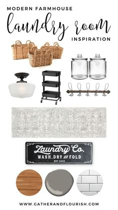 Modern Farmhouse Laundry Room Plans and Inspiration // Gather and Flourish