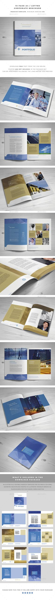 A4 / Letter Corporate Brochure Template InDesign INDD. Download here: http://graphicriver.net/item/a4-letter-corporate-brochure/14786046?ref=ksioks