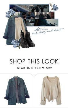 """""""all in ~ monsta x"""" by mediaunicorn ❤ liked on Polyvore featuring HUGO and Dr. Martens"""