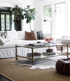 Timeless contemporary living room style in elegant neutrals.