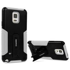 [$2.06] HAWEEL Dual Layer TPU Plastic Combo Case with Kickstand for Samsung Galaxy Note 4 / N910(Black)
