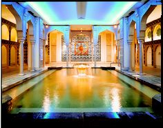 Spa World, a giant hot spring theme park in the heart of Osaka. They have all kinds of baths, European and Asian. This is their Islamic bath. AMAZING!