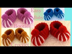 New and Easy Baby Booties - AmigurumiHouse Booties Crochet, Crochet Baby Boots Pattern, Baby Afghan Crochet, Crochet Bebe, Crochet Baby Booties, Crochet Slippers, Diy Crafts New, Baby Gifts To Make, Baby Slippers