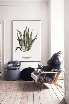 Poster de Agave grande archivo imprimible. Botánica por ILKADesign