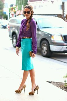 loving the color combo with leopard belt