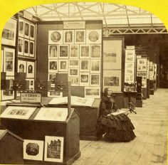 The 1867 Paris Exhibition - Photography booths, 1867, Stereocard, half. The Isenburg Collection, Toronto.