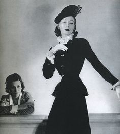 Coco Chanel and model, 1940's