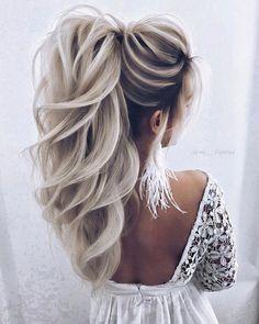 33 creative ideas for wedding hairstyles for women in 2018 - Frisuren Mittellanges Haar - # Ponytail Hairstyles, Trendy Hairstyles, Hairstyle Ideas, Hairstyle Tutorial, Hair Ideas, Ponytail Updo, Style Hairstyle, Creative Hairstyles, Voluminous Ponytail