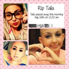 R.I.P Talia Castellano. Your makeup tips and great spirit will live on. <3