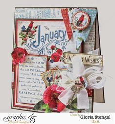 Scraps of Life: Graphic 45 Time To Flourish - January