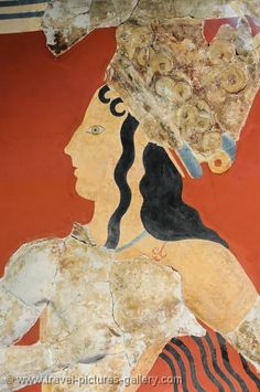 Crete - Heraklion - Knossos - Prince of the Lilies, Minoan fresco. Image courtesy of Travel Pictures Gallery W2C