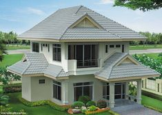Saved by radha reddy garisa Dream Home Design, House Design, 2 Storey House, House Elevation, Subaru Forester, Grey And White, Beautiful Homes, House Plans, Places To Visit