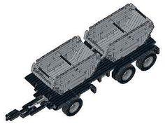 Bauanleitung instruction 42024 Anhänger mit 2 Eigenbau Unikat Moc Lego Technic