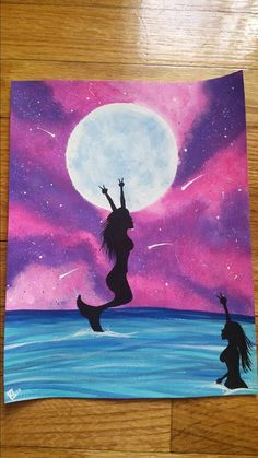Mermaid art. Galaxy art. Peace. Hippy art. Mermaids want peace too. Acrylics. Original signed art. Free shipping!   Check out this item in my Etsy shop https://www.etsy.com/listing/464537759/handpainted-85x11-mermaids-want-peace