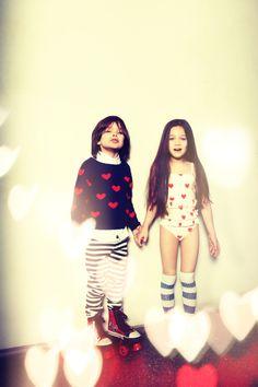 Mini Rodini Hearts in Rawr Magazine Cute Outfits For Kids, Cute Kids, Kids Stories, Fashion Children, Photo Journal, Trendy Kids, Kids Prints, Baby Style, Girls Life