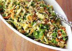 lisa is cooking: Asian-Flavored Kale and Cabbage Slaw