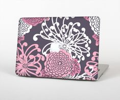 """The Pink and White Solid Flowers Skin Set for the Apple MacBook Air 13"""" from Design Skinz, INC."""