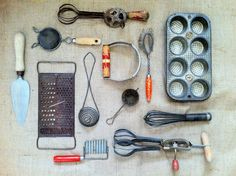 An Assortment Of Old Kitchen Tools. An Instant Collection! Includes  Everything You See: