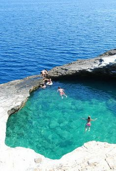 Greece Travel Inspiration - Giola Lagoon, a natural pool on Thassos, Greece