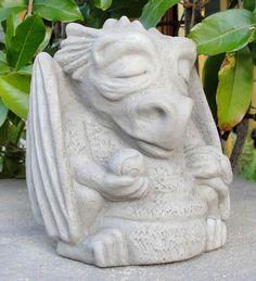 USA-Made Cast Stone Meditating Dragon