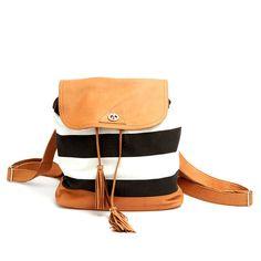 Belar Black Stripe Backpack : Love it
