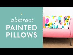 Make your own abstract painted throw pillows!