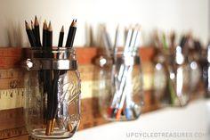 DIY Mason Jar Storage Tutorial Using Vintage Yardsticks