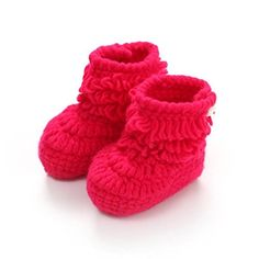 New Fashion Baby Crib Shoes Crochet Knit Fleece Boots For Boys&Girls Knit Baby Shoes, Baby Crib Shoes, Crochet Baby Boots, Baby Girl Crochet, Knitted Baby, Wool Shoes, Unisex Baby, Handmade Baby, Shoe Boots
