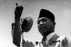 Sukarno. The first president of Indonesia