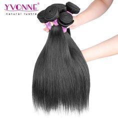 Grade 5A 100% Malaysian Natural Straight Virgin Hair Weave 1B Color