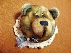 Bear Brooch, gift for her,cute Brooch, animal Original brooch, cute pin, bear pin, Original gift for women, Present for Her, handmade brooch by happygiftsUA on Etsy