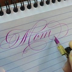 Most magical name ever. Happy Mother's Day to all you wonderful Moms!! #mothersday #calligraphy #winsorandnewton #gouache #brilliantviolet #realtime #flourish #flourishforum #flourishing #calligraphymasters #calligraphysharing #arts_help #artdesires #paperandinkarts #johnnealbookseller #iampeth #violet