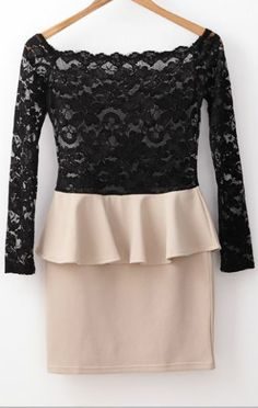 Apricot Long Sleeve Off The Shoulder Lace Ruffle Dress