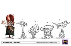 Scrivener Elf Roughs by Fred Seibert, via Flickr