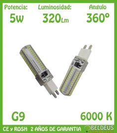 BOMBILLA LED G9 GEL 5W BLANCA FRIO