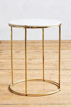 "Leavenworth Marble Side Table - 25.5"" h, 20"" diam $349 