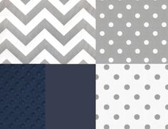 Crib Bedding Set Gray White Navy Blue by butterbeansboutique, $325.00